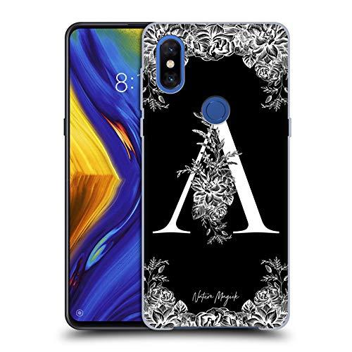 Head Case Designs Oficial Nature Magick Letra A B & W Monogram Flores 1 Carcasa rígida Compatible con Xiaomi Mi Mix 3