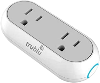 WiFi Smart Plug Socket Compatible with Alexa Echo/Google Home/IFTTT, trublu Dual Mini Smart Outlets with Remote Control Individually, Energy Monitoring and Timer, No Hub Required (1)