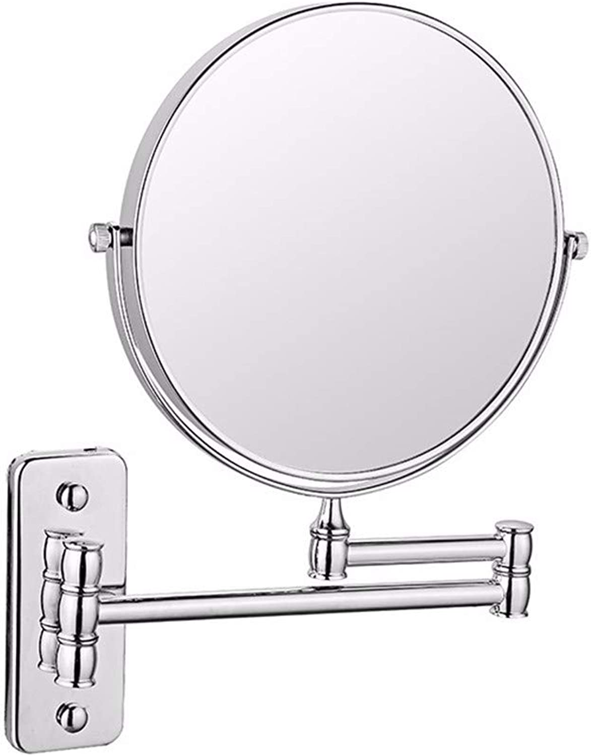 Wall Mounted Mirror 3X Magnification Bathroom Shaving Mirror Double-Sided Round Magnifying Vanity Swivel Mirror 360° redatable and Extendable Arm,6inch,A