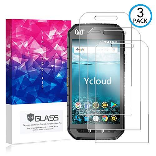 Ycloud [3 Pack] Panzerglas Bildschirmschutzfolie für Cat S41, Hartglas Staubdichter, 9H kratzfester Bildschirmschutz Protector für Cat S41