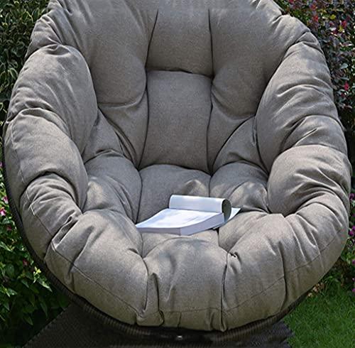 XBSXP Cuscino Rotondo per Sedia a Dondolo, soffice Cotone Vimini Appeso Cuscini per sedie a Uovo Pad Patio Giardino Interno-Grigio 120x120 cm (47x47 Pollici)