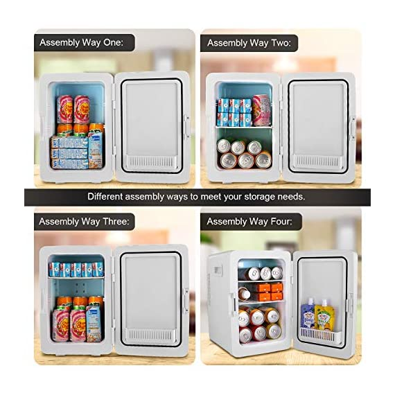 Compact Refrigerator,20-lifter Large Capacity,Cooler and Warmer Compact Freezer Single Door Mini Fridge With Digital… 3 ✓More Cooler and Warmer: refrigeration 20-25'C lower than ambient temperature;heating The highest temperature is about 65°C. No matter in outdoor hiking traveling by car or in traffic jam, you can enjoy plenty of drinks and foods at a proper temperature. ✓Vast storage space: 20L car fridge has plenty of space to pack everyone's favorite foods. The interior dimension is 20*21*33cm , External: 27*33*40Cm, and it fits easily into car trunks & seats for bulk free travel ✓Precise Temperature Control:With the easy-to-operate LCD digital display. Precise temperature control keep stuff in better condition.