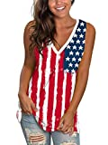 SAMPEEL Women Tank Tops Summer Plus Size 4th of July Shirt USA July Fourth Outfits Tunic XXL