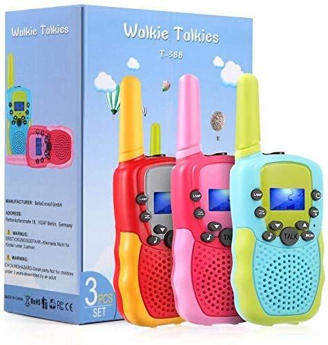 TekHome 3 4 5 6 Jährige Mädchen Junge Spielzeug, Geschenk 7 8 9 10 Jahren, Walkie Talkie Kinder 3er Set 3km mit Taschenlampe, Kinderspielzeug ab 3 Jahren, Top 2020 Kinder.