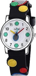 Ovvel Boys Watch – Pretty and Cute Kids Wristwatch with Teaching Analog Display Time Teacher - Japanese Quartz - Tennis