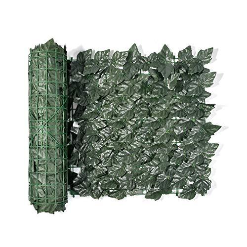 Künstliche Hecke, Garten Sichtschutz, Efeu Screening Rolls künstliche hecke Sichtschutzhecke für Terrasse Wanddekoration (100X50 cm, 300X50 cm, 300 x 100 cm)