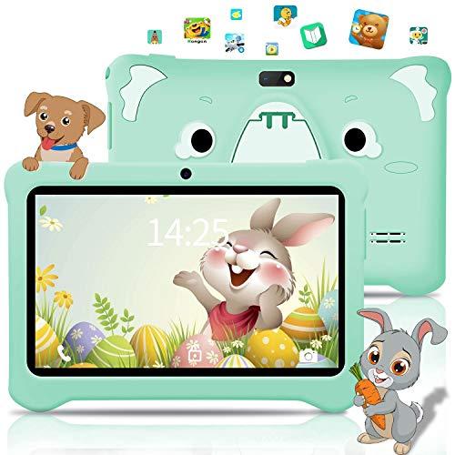 AOYODKG Tablet para niños de 7 Pulgadas, Android 9.0 Pie WiFi, 3GB de RAM 32GB ROM Tablet Android, Educación, Juegos, Control Parental, Google GMS Certificado, Bluetooth, Doble Cámara (Azul)