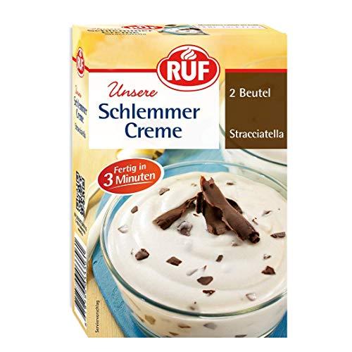 RUF Schlemmercreme Stracciatella fertig in 3 Minuten, 10er Pack (10 x 2 Beutel)