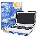 Alapmk Protective Case Cover for 11.6' Acer Chromebook 11 C771T C771 & Chromebook Spin 11 CP311-1HN R751T CP511-1HN R751TN & Chromebook 11 N7 C731T C731 CB311-7H CB311-7HT Series Laptop,Starry Night