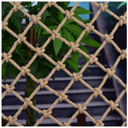Filet de Corde Filet de Sécurité Corde de chanvre tissée à la main net aire de jeux escalade filet net escalier balcon anti-chute net bar restaurant plafond décoration net suspendus vêtements net