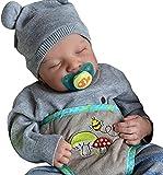 CZSMART Muñeca de bebé dormida, simulación de muñeca de bebé, recién nacido, recién nacido, de silicona suave, 19 pulgadas