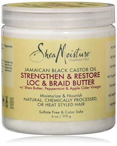 Shea Moisture Jamaican Black Castor Oil Loc & Braid Butter, 6 Ounce