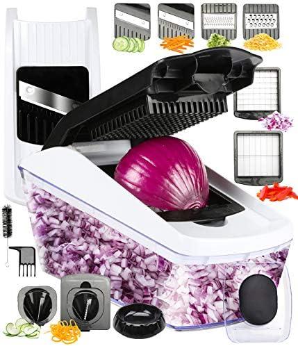 FAVIA Vegetable Chopper Pro Mandoline Julienne Slicer Veggie Spiralizer Cheese Shredder with product image