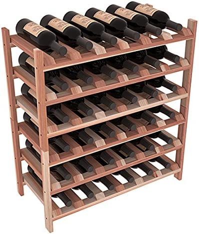 Wine Racks America Redwood 36 Bottle Unstained San Max 68% OFF Jose Mall Stackable.