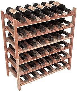 Wine Racks America Redwood 36 Bottle Stackable. Unstained