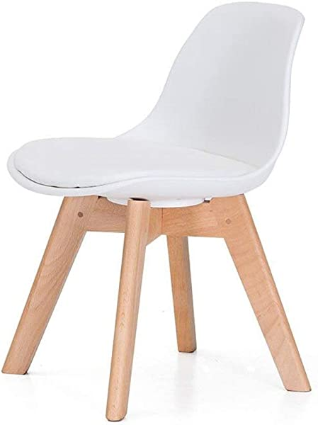 Carl Artbay Wooden Footstool White Cushions Children S Chair Solid Wood Student Back Chair Home Small Chair Writing Chair Learning Chair Home