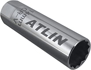 ATLIN Thin Wall Spark Plug Socket 12-Point, 14-millimeters Compatible with BMW, Nissan, Mini