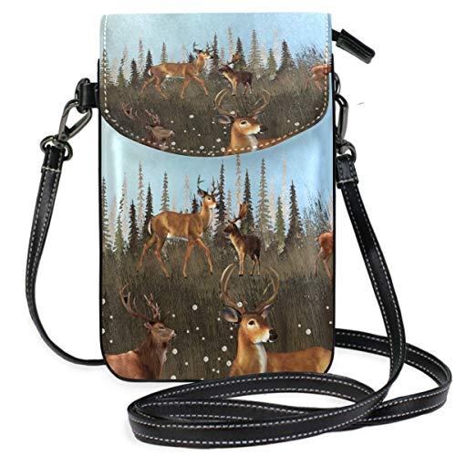 XCNGG Telefontasche Deer Cell Phone Purse Wallet for Women Girl Small Crossbody Purse Bags