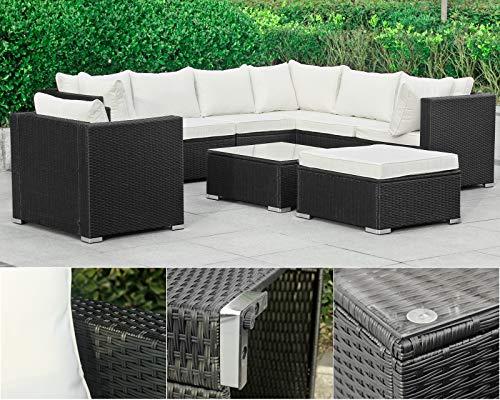 Hansson Polyrattan Lounge Sitzgruppe Gartenmöbel Garnitur Poly Rattan 7 Sitzplätze Bild 4*