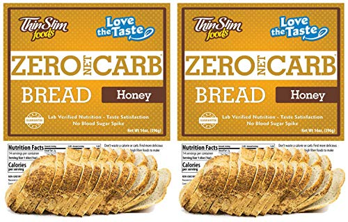 ThinSlim Foods Keto Low Carb Bread - Honey Bread, 2 Pack (14 Slices Each)