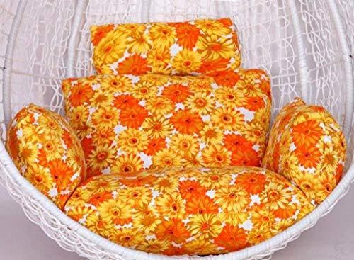 DZX Cojines para Silla de Hamaca 100% algodón Acolchado para Colgar el Asiento de ratán Cojines de Asiento de Tejido con Almohada para jardín, Patio, Silla de Columpio de ratán (Color: B) (Excluyendo
