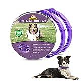 Collare Calmante per Cani, Collari per Cani Anti-ansia Regolabili, Collare ai feromoni calmante a 60 Giorni Lunga Durata Impermeabile Naturale Sicuro per Tutti i Cani
