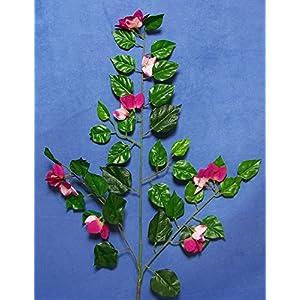 "Silk Flower Arrangements Six Quality 27"" Fuchsia Pink Bougainvillea Artificial Faux Silk Flower Spray"