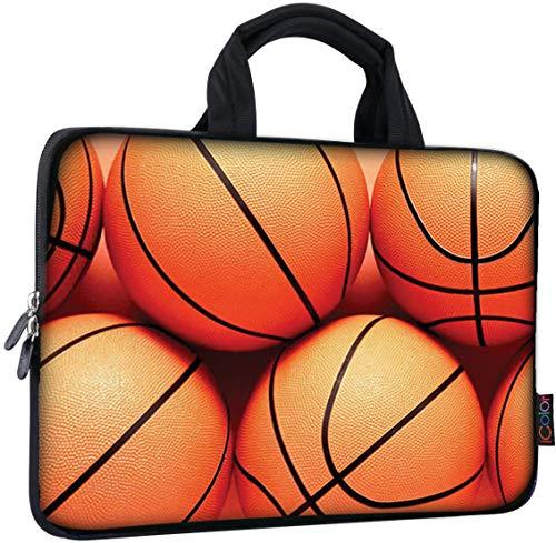 ICOLOR 11 11.6 12 12.1 12.5 inch Laptop Carrying Bag Chromebook Case Notebook Ultrabook Bag Tablet Cover Neoprene Laptop Sleeve case chromebook Sleeve with Handle Kids Boys Girls Basketball