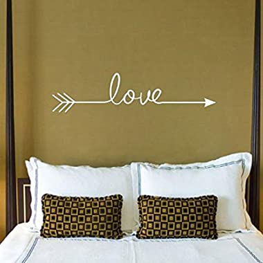 Iuhan Fashion Love Arrow Decal Living Room Bedroom Vinyl Carving Wall Decal Sticker for Home Decoration (White)