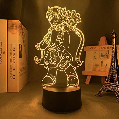 Lámpara 3D LED de Anime Light fabricada en Abyss para dormitorio, decoración de noche infantil, regalo de Navidad y manga, lámpara 3D fabricada en Abyss-Touch Control