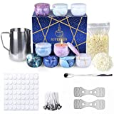 SUPERSUN Scented Candles Making Supplies - DIY Gift Kits Include Candle Pouring Pitcher, Soy Candles, Centering Devices, Tins, Wicks, Wicks Sticker & Stir Rod