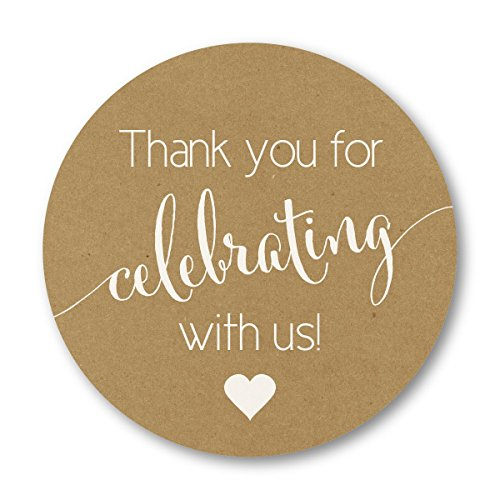 Thanks for Celebrating With Us Stickers, Wedding and Even Favor Labels (#362-KRW)