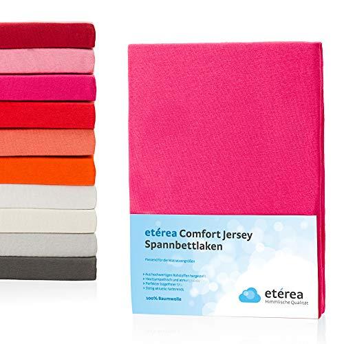 #1 Etérea Kinder Jersey Spannbettlaken, Spannbetttuch, Bettlaken, 60x120 - 70x140 cm, Pink