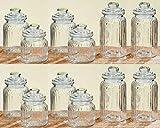 Melancholita Vorratsdose Glasdose Bonbonglas Set Vintage Jars aus Glas mit Deckeln H15/19/23cm...