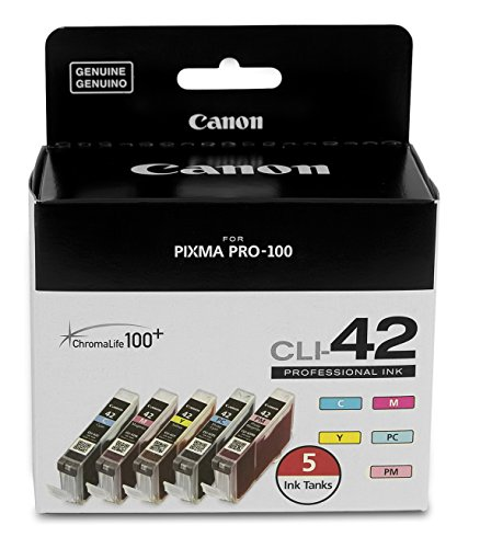 CanonInk CLI-42 5-Pack Value Ink Compatible to PIXMA PRO-100 for Printer