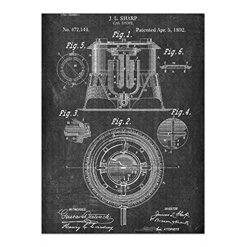 artboxONE Ravensburger-Puzzle XXL (1500 Teile) Essen & Trinken Gasherd Patent (Tafel) - Puzzle gasherd küche Kochen