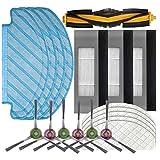 NICERE Partes de aspirador reemplazos 19 unids filtro cepillo trapeador set para deebot Ozmo T8 Partes de aspirador Cepillos filtro Accesorios
