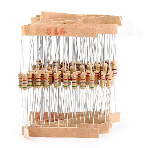 1000pcs Resistor Kit Assortimento 100 Valori 1 / 2W 1-10M Ohm Resistenze al carbonio Componenti elettronici