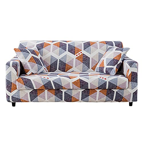 WXQY Funda elástica para sofá de Sala de Estar, Funda para sofá seccional elástica Funda para sillón, Funda para sofá de Esquina en Forma de L A8 2 plazas
