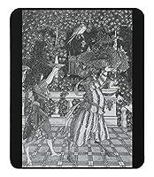 オーブリー・ビアズリー『 Servant to carry the fruit 』のマウスパッド:フォトパッド(世界の名画シリーズ)