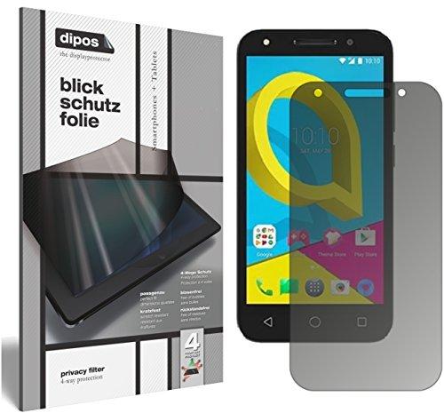 dipos I Blickschutzfolie matt kompatibel mit Alcatel U5 Sichtschutz-Folie Bildschirm-Schutzfolie Privacy-Filter