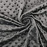 Panini Tessuti, Tessuto Minky Dots Peluche - Venduto al Mezzo Metro a Partire da 50 CM (Lunghezza) x 150 CM (Larghezza Fissa); 1 qtà=50cm; 2qtà=100cm - Prima Infanzia - Bambini - Fai da Te