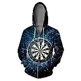 Black Zipper Hoodies 3D Print Zipper Sweatshirt Casual Funny Target Warm Trendy Hoodies Jacket V02088 L