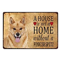 家はボーダーコリー/フレンチブルドッグの金属看板のない家ではありませんブリキのポスター家ペットショップの装飾壁アート絵画-20x30cm