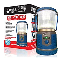 Tough Light LED Rechargeable Lantern – 200 Hours of Light...