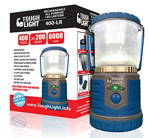 Tough Light LED Rechargeable Lantern - 200 Hours of Light...