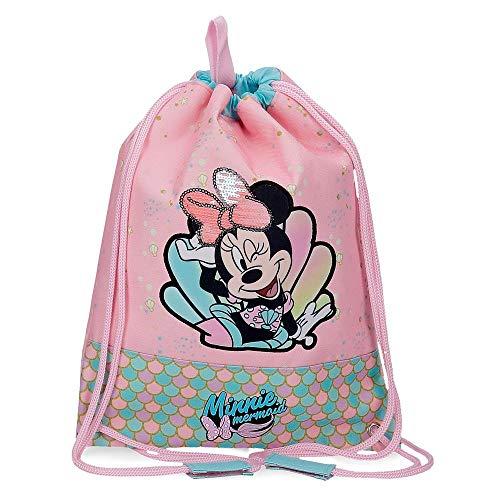 Disney Minnie Mermaid Bolsa de Merienda Rosa 27x34 cms Poliéster