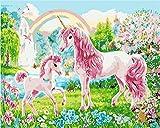 N\A Decoraciones para El Hogar Kit Manualidades Jardín Unicornio Animal DIY Pintura por...