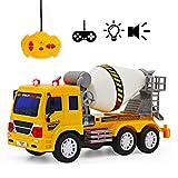 deAO RC Camion di Serie Camion da Costruzione Completamente Funzionale Radiocontrollato Veicolo di con Luci e Suoni Livello Principiante (Camion Betoniera)