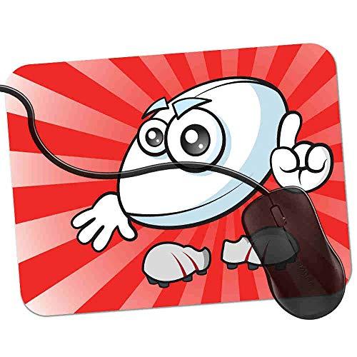 Gaming Mauspad Cooler Rugbyball Fransenfreie Ränder spezielle Oberfläche verbessert Geschwindigkeit und Präzision rutschfest 2K19